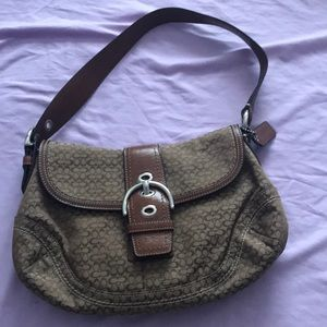 Brown logo coach bag